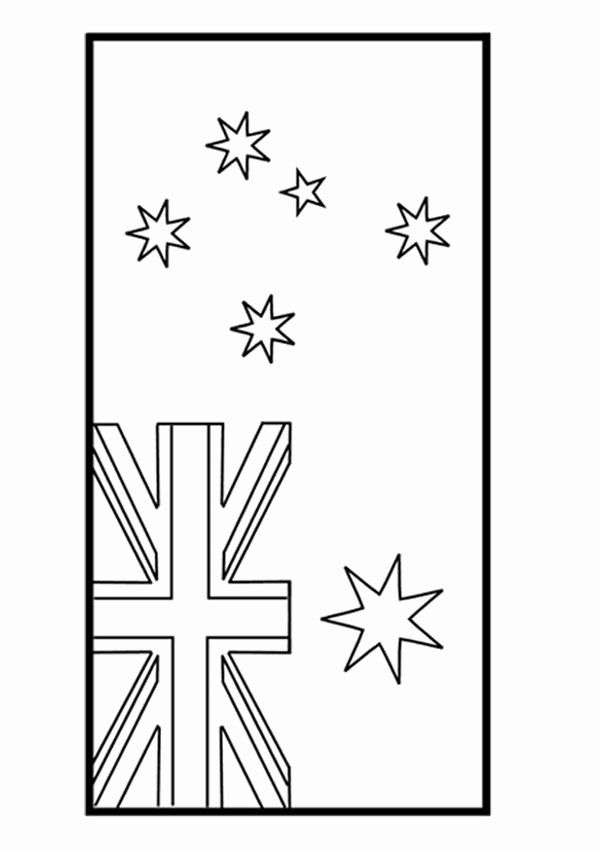 Australia Flag Coloring Page Inspirational Free Line Australian Flag Colouring Page Kids Activity Flag Coloring Pages Australian Flags Coloring Pages