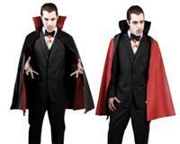 Vampir Pelerini, Kırmızı/Siyah Çift Yönlü Plastik 114cm Parti Kostümleri - Yetişkin Parti Kostümleri Çift yönlü (kırmızı/siyah) kullanıma uygun, boyundan bağcıklı kalın plastik pelerin.  Yetişkinlerde ve çocuklarda kullanılabilir.  Uygun aksesuarlarla cadı, şeytan, vampir, drakula, sihirbaz, büyücü kostümü yapabilirsiniz.