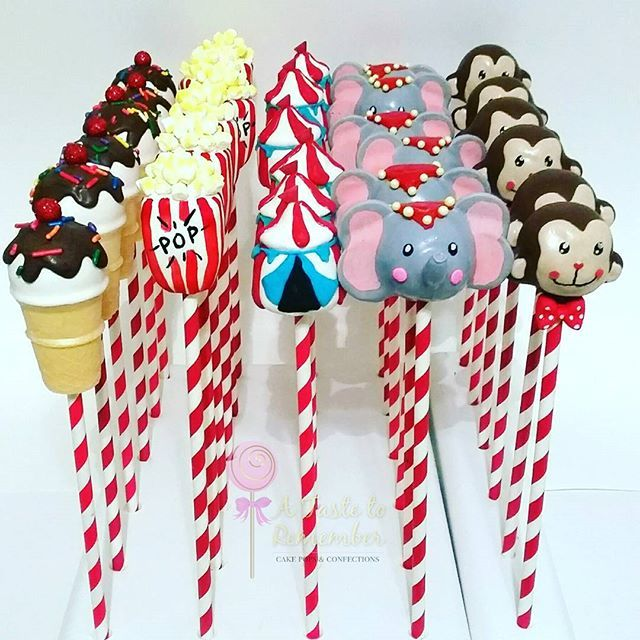 Circus cake pops. These were fun!