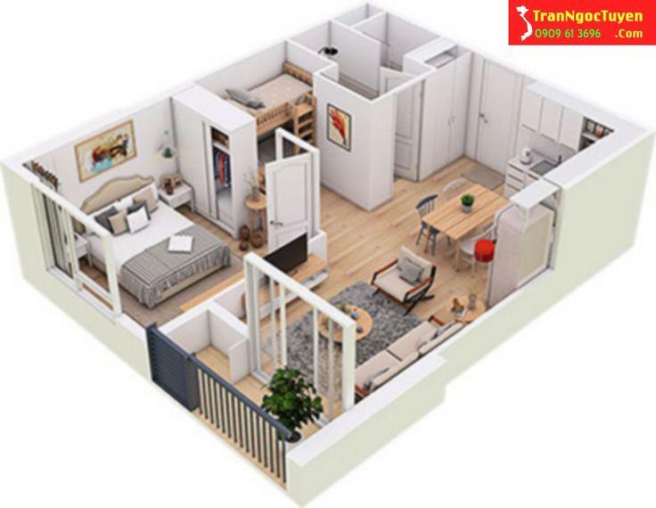 Thiết kế căn hộ West Bay Ecoaprk diện tích 45m2 Hotline tư vấn West Bay Ecopark 0909.61.3696 gặp Ngọc Tuyền