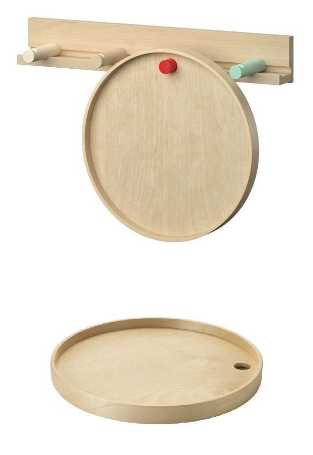 IKEA PS 2014 tray. You can save room by hanging the tray on a hook when you're not using it. Together with the wall rail and the other accessories in the IKEA PS 2014 series you can create different combinations to suit your needs and your home.