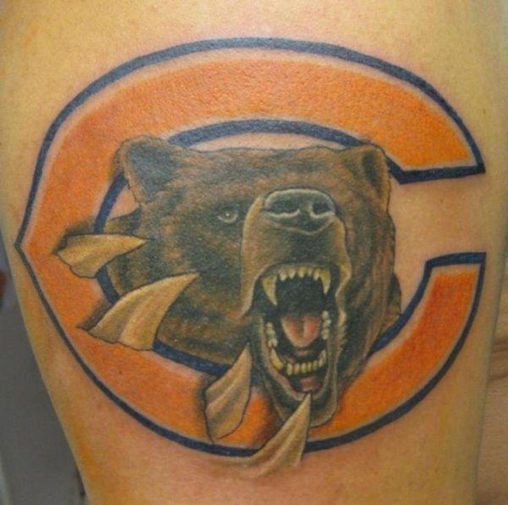 Chicago bears tattoo | Tattoos | Pinterest