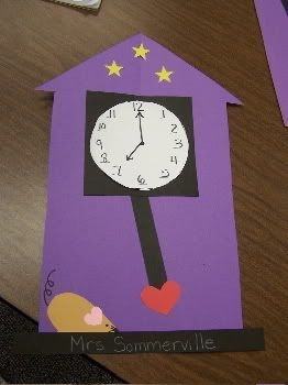 Hickory Dickory Dock nursery rhyme craft