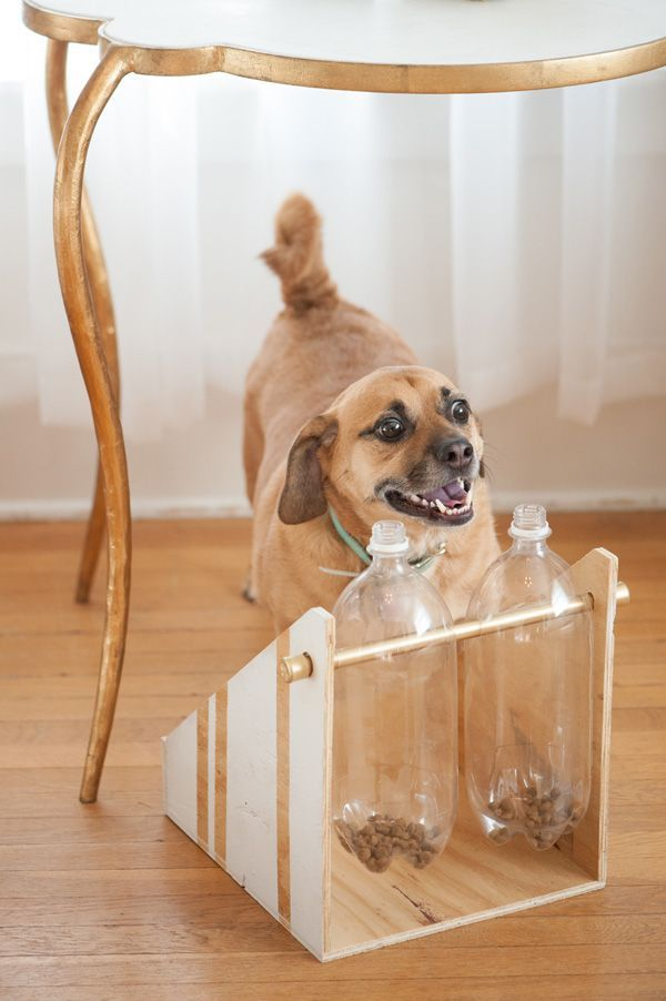 Love this DIY Treat Dispenser from @dailydogtag -- made for less than $15 using Tractor Supply items! Her dogs love it!