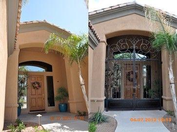 Wrought Iron Entry Gates Mediterranean Style Creates An