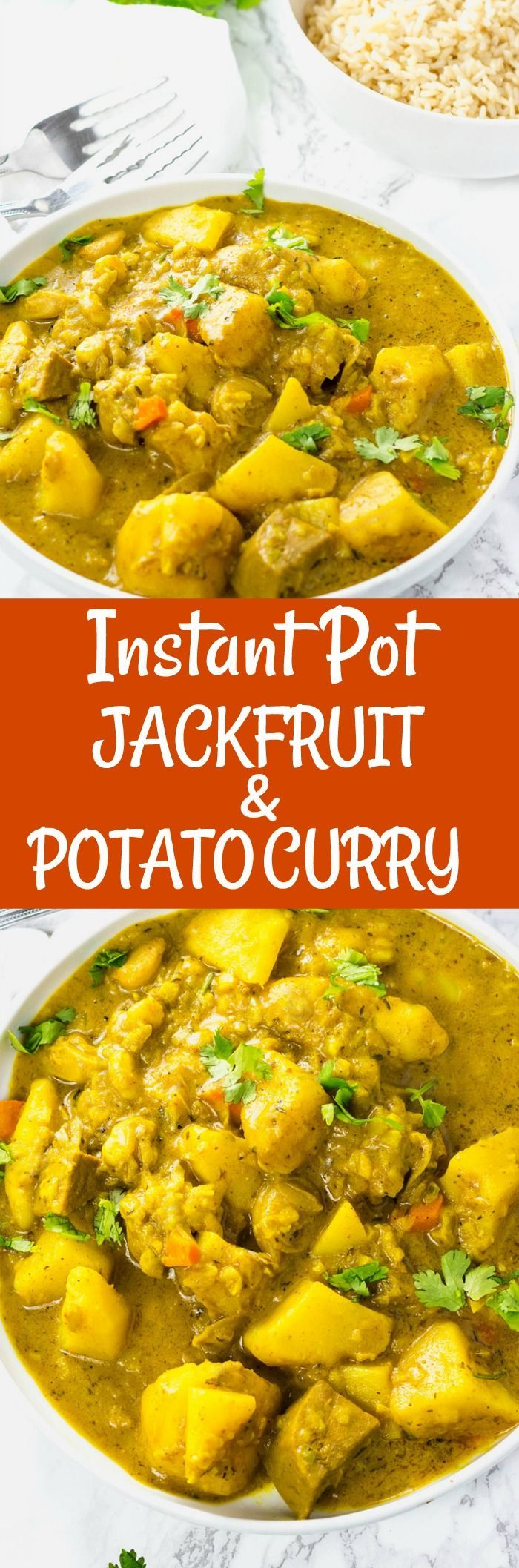 Instant Pot Jackfruit and Potato Curry #vegan #gluten-free #jackfruit