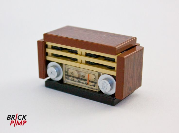 #RETRO #RADIO #Sticker For #LEGO Tiles And Bricks On Www.brick