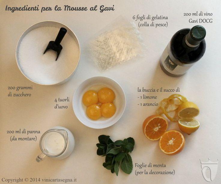Ingredienti per la mousse al vino bianco di Gavi. Prova la ricetta http://www.vinicartasegna.it/ricetta-mousse-al-vino-bianco-di-gavi