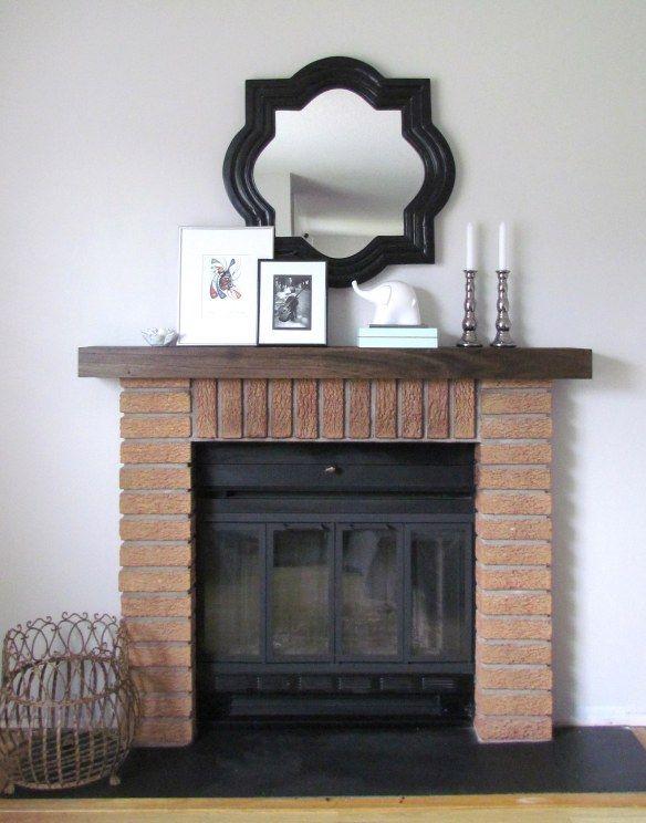 diy mantel shelf fireplace mantel. Black Bedroom Furniture Sets. Home Design Ideas