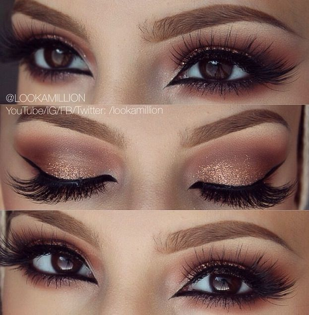 Gold Smokey Eye Bridal Makeup : Best 25+ Golden Eye Makeup ideas on Pinterest Diy bridal ...