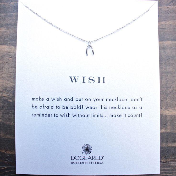 dogeared wish teeny wishbone necklace in sterling silver