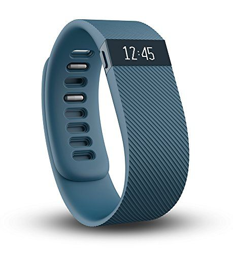 Fitbit Charge Wireless Activity Wristband, Slate, Large