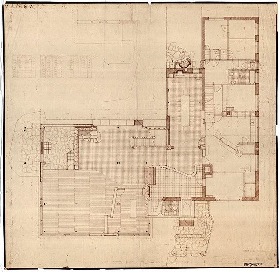 final ground floor plan | Villa Mairea | Noormarkku, Finland | Alvar Aalto 1938-39