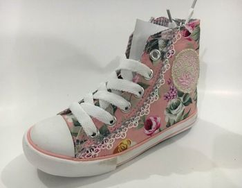 2016 Kids Stylish Flower Printing Canvas Shoes