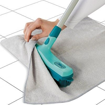 Leifheit 3 In 1 Rubber Broom Head Attachment, Lagoon Turquoise