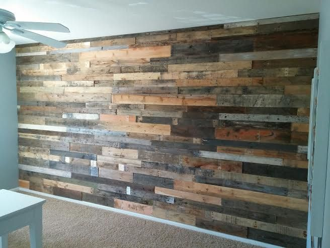 21 best images about pallet wall on pinterest rustic for Using pallets for walls