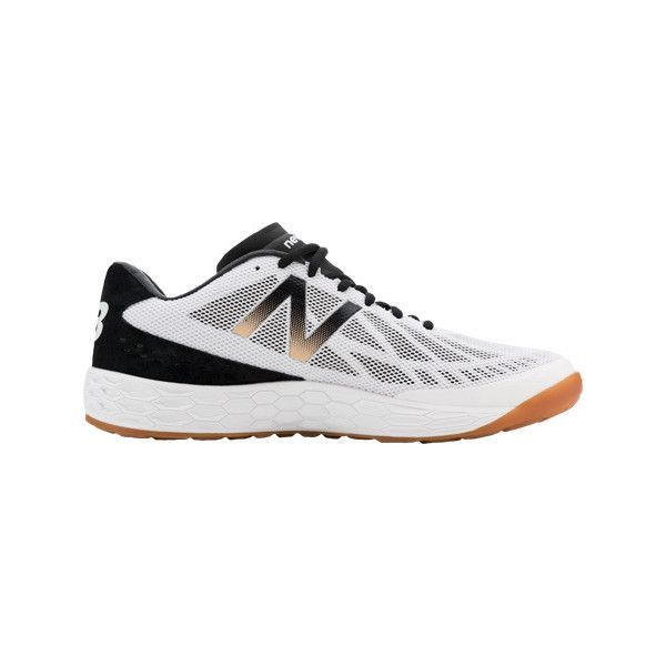 Men's New Balance Fresh Foam MX80v3 Cross Trainer - Black/White... ($100) ❤ liked on Polyvore featuring men's fashion, men's shoes, men's sneakers, new balance mens shoes, mens sneakers, mens cross trainer shoes, new balance mens sneakers and black white mens dress shoes