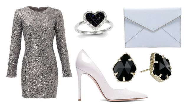"""""""sylwestrowo"""" by fashionandmore-blog on Polyvore featuring moda, Slate & Willow, Rebecca Minkoff, Gianvito Rossi, Kevin Jewelers i Kendra Scott"""