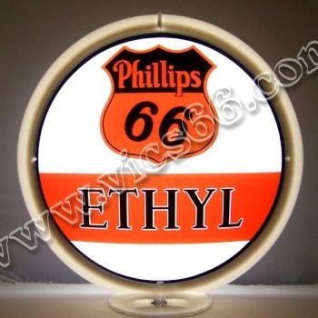 Phillips 66 Ehtyl 13.5 Inch Gas Pump Globes - Vic's 66 - Gas Pump Parts, Globes and Memorabilia