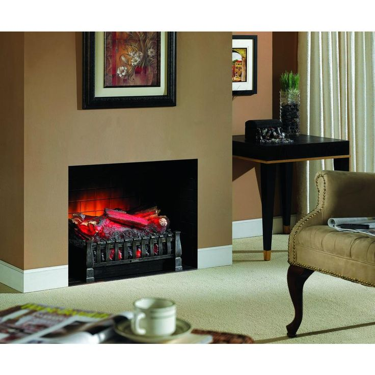 Electric Fireplace hampton bay electric fireplace : Hampton Bay Blaise 20 in. Infrared Quartz Electric Fireplace Log ...