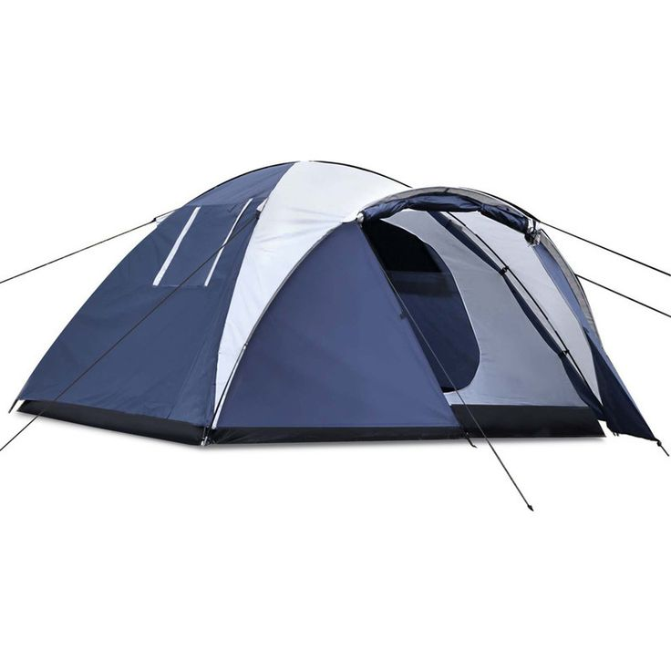 Weisshorn 4 Person Family Camping Dome Tent in Blue | Buy Tents