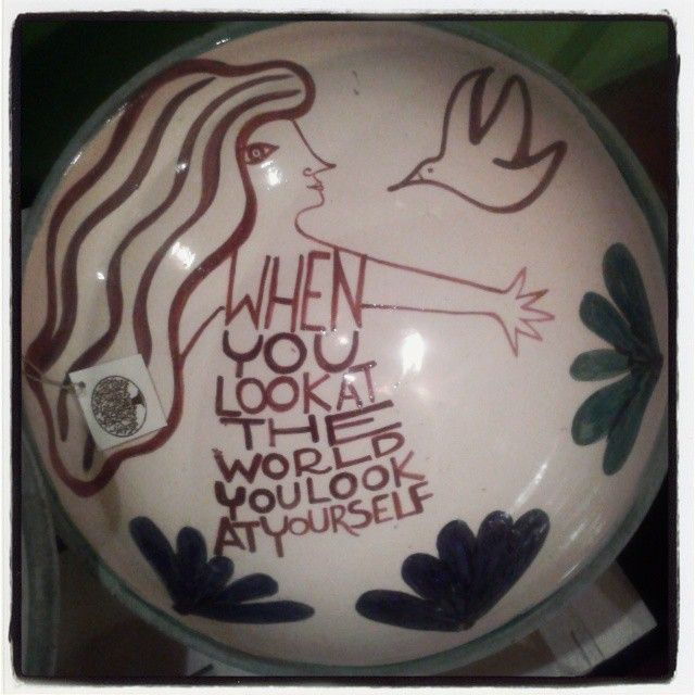 Handmade and hanpainted ceramic bowl. One of a kind. Available in Can Domingo, art shop, open every night from 7,30pm, Ibiza