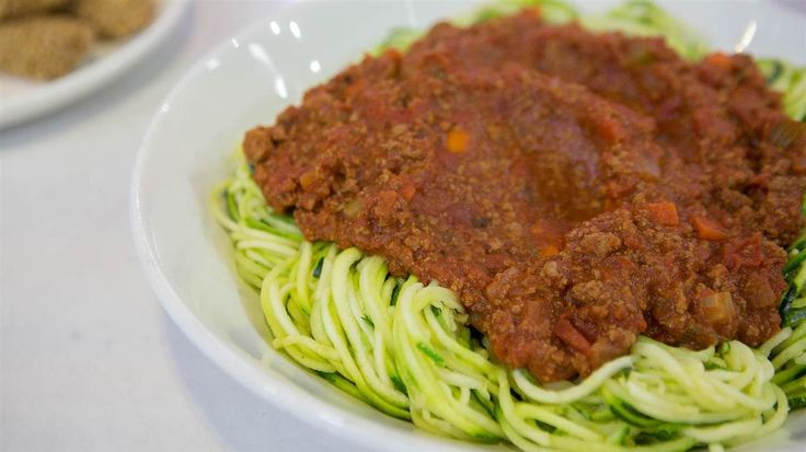 The Hungry Girl's creative recipes for chicken nuggets and zucchini noodles with meat sauce are healthy takes on family-friendly classics.