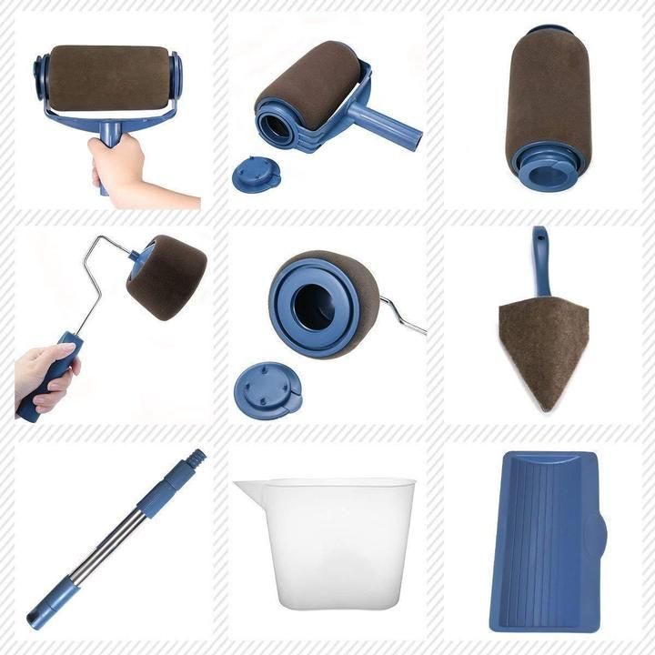 Hot Sale 8pcs Set Multifunctional Wall Decorative Paint Roller Brush Homedeals8 In 2020 Paint Roller Roller Brush Roller Set