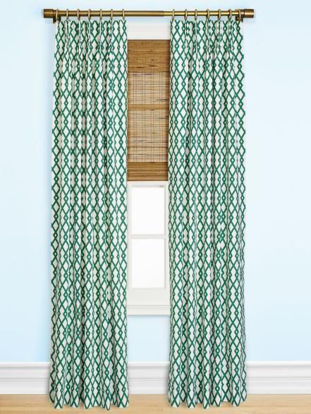 Long: Panels + Rod + Bamboo shade