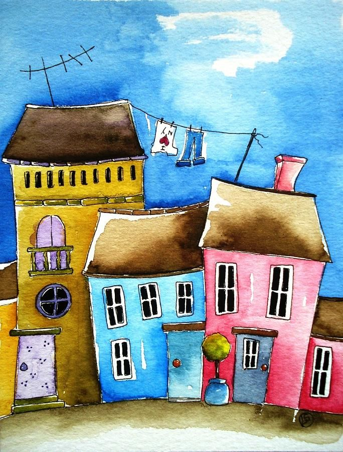 Wash Day Painting by Lucia Stewart