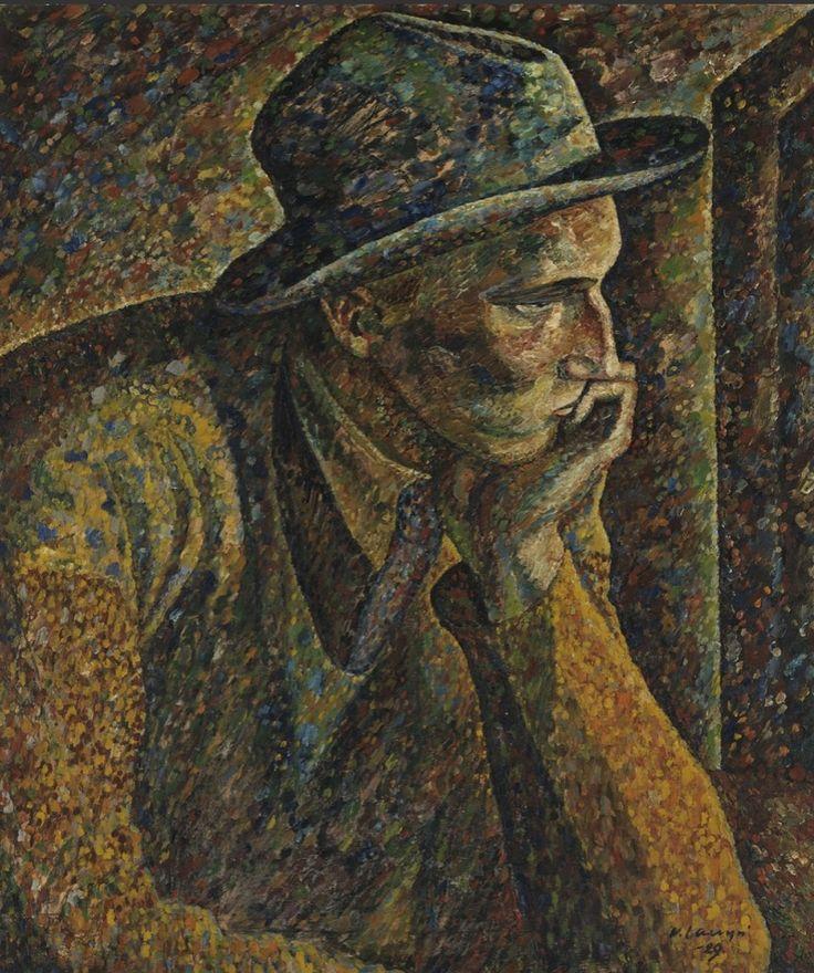The practitioner (Self Portrait), 1929, Vilho Lampi. Finnish (1898 - 1936)