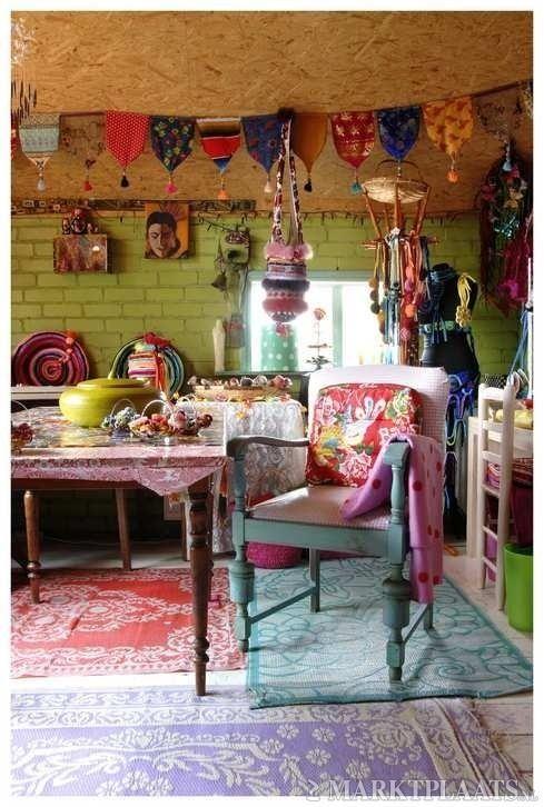 artsy creative room funky decor hippie - Bohemian Home Decor