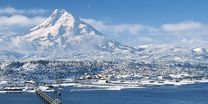 Winter in Hood River--enjoy our new Stay-Play-Ski deal--$99 for a 3-out-of-5-day lift ticket to Mt. Hood Meadows when you stay at select hotels, motels, b&bs, and vacation homes. #hoodriver #ski