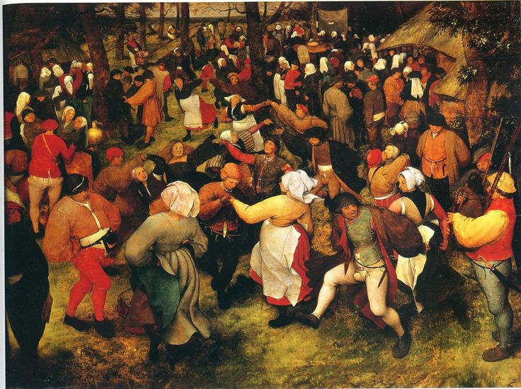Bruegel, Wedding Dance (love to stare into this and recognise my family members)