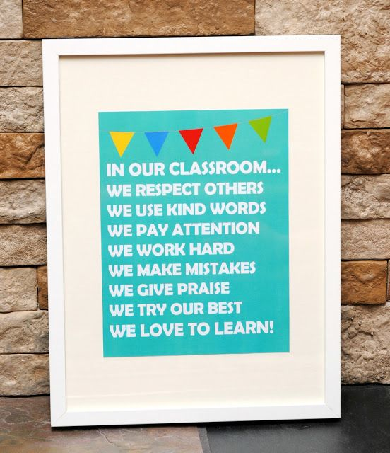 Printable Classroom Rules High School | ... Appreciation Week I thought it would be fun to share a free printable
