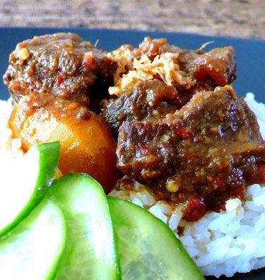 Indonesian Food. Semur Betawi. Braised Beef Betawi Style