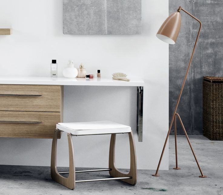 Calidris stool with cushion is beautiful to look at and great to sit on.