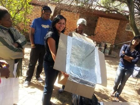 Youth at the Baha'i temple in Johannesburg learned how to make their own hotboxes this year recycling everyday materials such as cardboard boxes. Save energy, save Earth's resources!