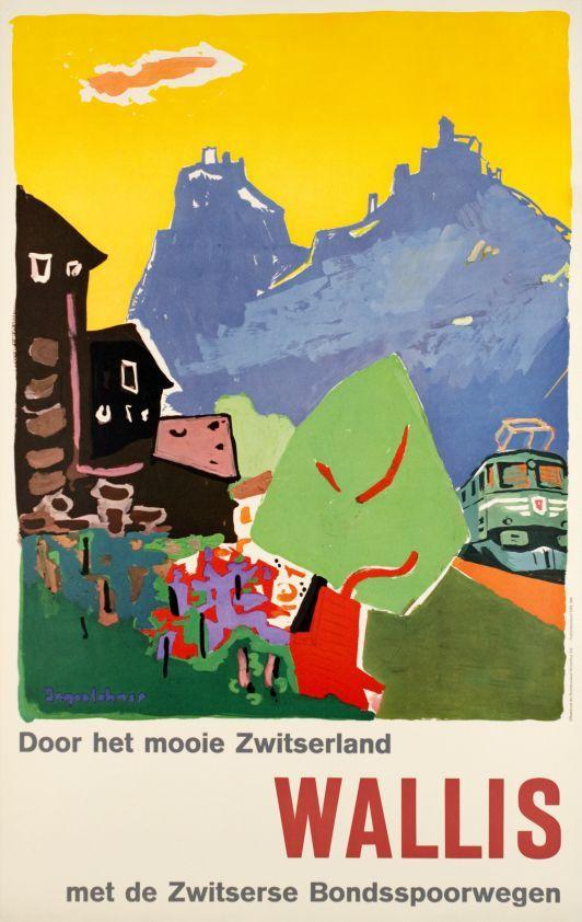 Wallis, Door het mooie Zwitserland, Met de Zwitserse Bondsspoowegen by Jegerlehner Hans / 1960