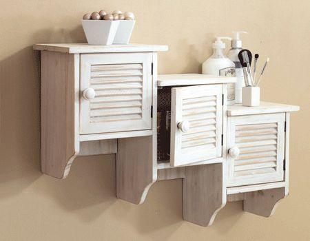 bathroom shelves/cabinets