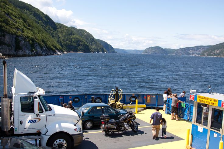 Ferry on St. Laurent River, Quebec - Crossing the St. Laurent River from Forestville to Rimouski, Quebec Canada