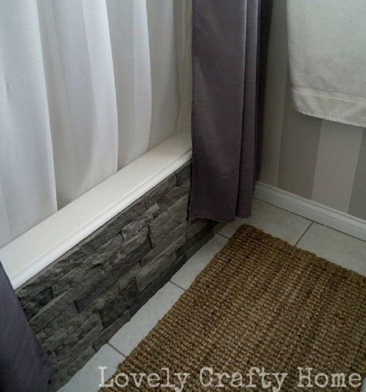 Top to DIY Ideas for Bathroom Decoration ~ I love the idea of the faux stones on the front of the tub! Makes it look so luxurious! ~KB