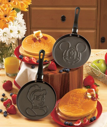 Disney Pancake Pans.. I would say I'd buy them for my future kids, but I'd buy them right now if I could! SO cute.