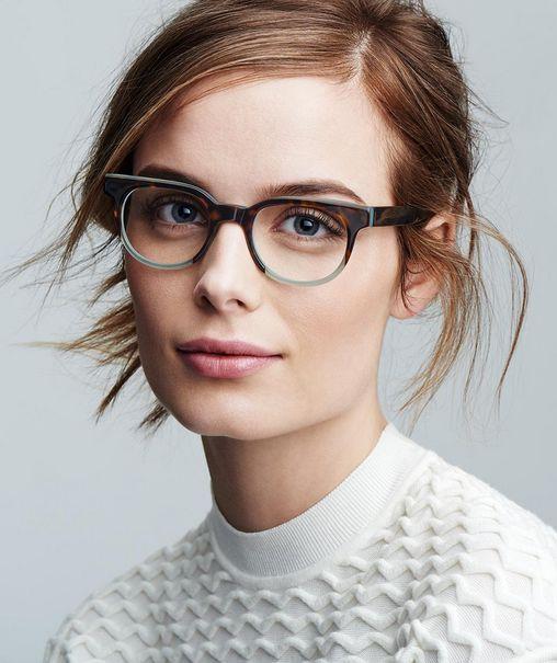 Warby Parker eyeglasses Trendy frames + artfully disheveled hair