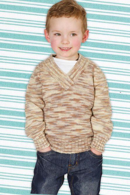 Spotlight Free Knitting Patterns Babies : PURE WOOL BOYS V-NECK JUMPER - Project - Spotlight Australia Knitting Pin...