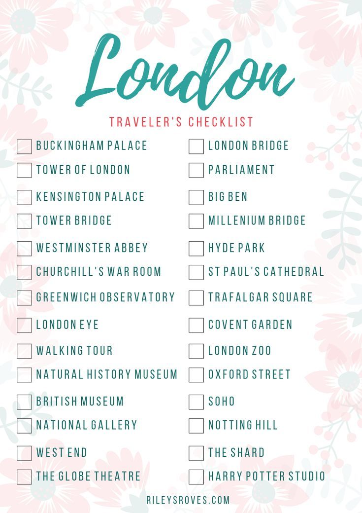 Checklist for London Travelers – #Checklist #for #LondonTravelers