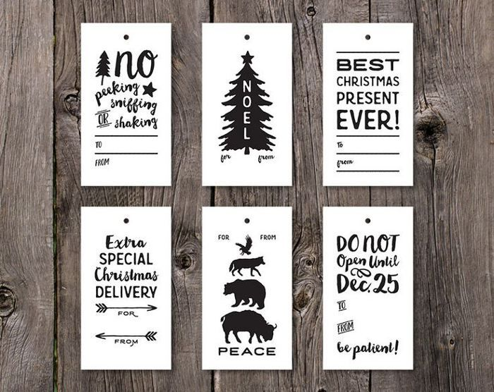 394 best 2017 christmas images on pinterest gift wrapping xmas printable gift tag printable holiday gift tags printable christmas tags printable christmas gift tags black and white digital labels negle Choice Image