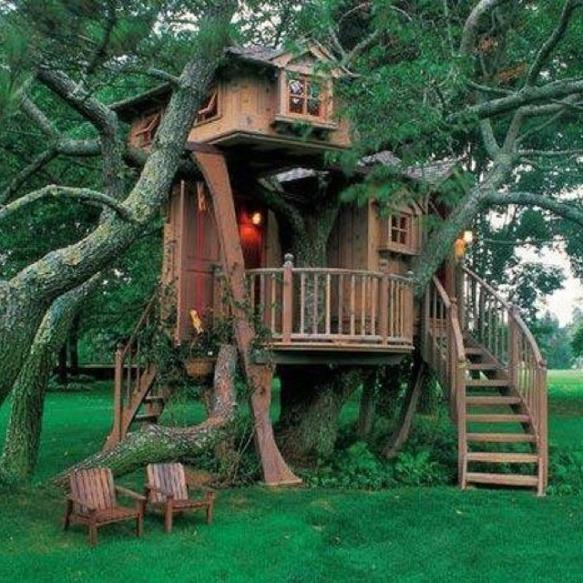 96 Best Play Houses Cool Tree Houses Images On Pinterest