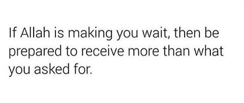 Be patient with a beautiful patient