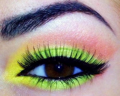 MBA eyeshadows: L S Makeupbystavy, Yellow Green Eyeshadows, Color, Beautylish, Mba Eyeshadows Want, Neon Eyeshadow, Photo, Eyeshadows Beauty, Neon Yellow
